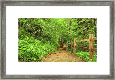 Take A Hike Framed Print