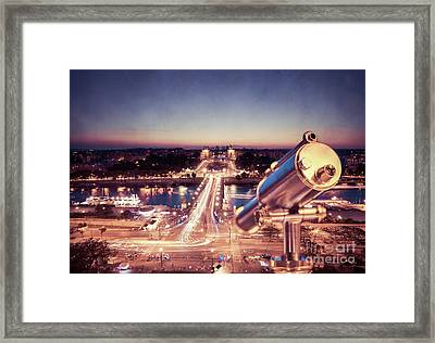 Framed Print featuring the photograph Take A Look At Paris by Hannes Cmarits