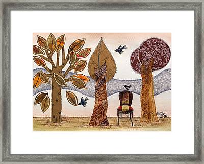 Take A Rest In Autumn Framed Print