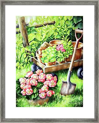 Framed Print featuring the painting Take A Rest by Inese Poga