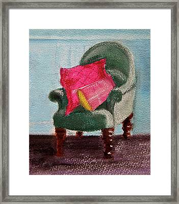 Framed Print featuring the painting Take A Rest by Linde Townsend