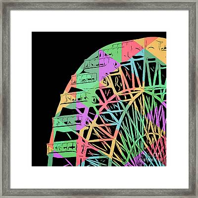 Take A Ride On The Ferris Wheel Framed Print