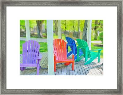 Take A Seat But Don't Take A Chair Framed Print