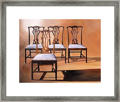 Take A Seat Framed Print by Denise H Cooperman