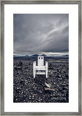 Framed Print featuring the photograph Take A Seat Iceland by Edward Fielding