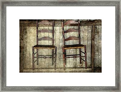Take A Seat Framed Print by Stephanie Calhoun