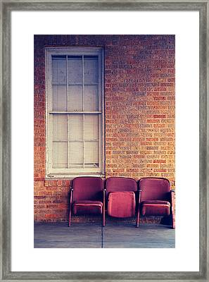 Framed Print featuring the photograph Take A Seat by Trish Mistric