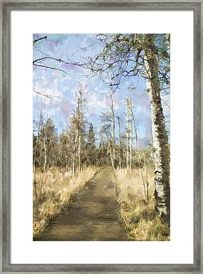 Framed Print featuring the painting Take A Walk by Annette Berglund