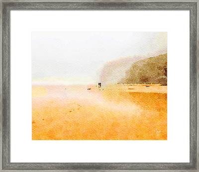 Framed Print featuring the painting Take A Walk With Me by Angela Treat Lyon