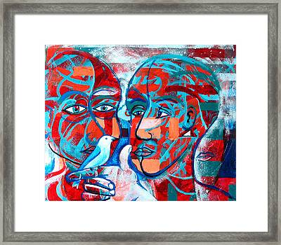 Take Care  My Love Framed Print by Rollin Kocsis