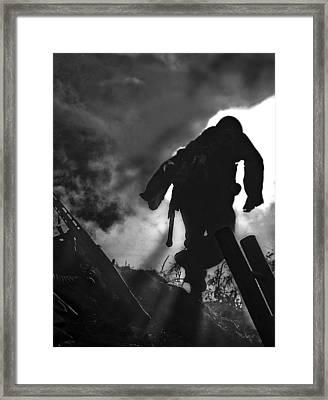 Take Cover Framed Print by Mark H Roberts