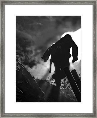 Take Cover Framed Print