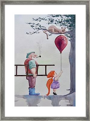 Framed Print featuring the painting Take It Please by Geni Gorani