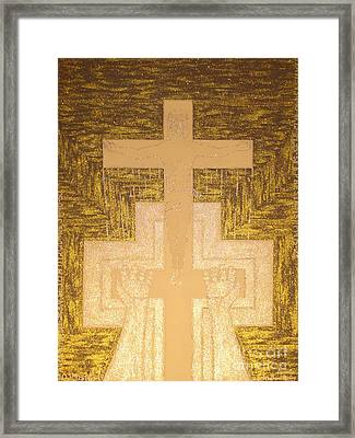 Take It To The Cross Silver Gold Framed Print by Daniel Henning