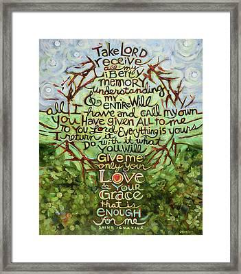 Take Lord, Receive Framed Print