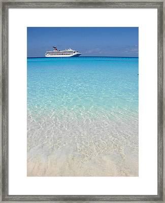 Take Me Back To Half Moon Cay Framed Print by Margaret Bobb