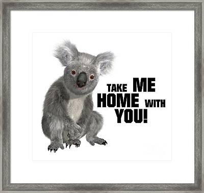 Take Me Home With You Framed Print