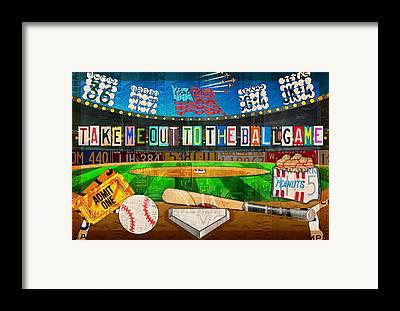 New York Baseball Parks Framed Prints