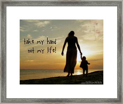 Take My Hand Framed Print by Samuel Epperly