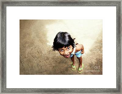 Take My Picture.. Framed Print