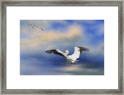 Framed Print featuring the photograph Take Off By The Sea by Kim Hojnacki