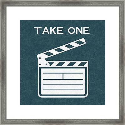Take One- Art By Linda Woods Framed Print by Linda Woods