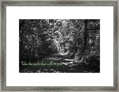 Take The Path That Calls To You Framed Print by Eric Benjamin