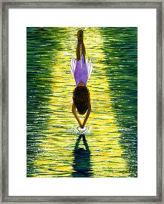 Take The Plunge Framed Print by Catherine G McElroy