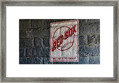 Take The T To Fenway Framed Print