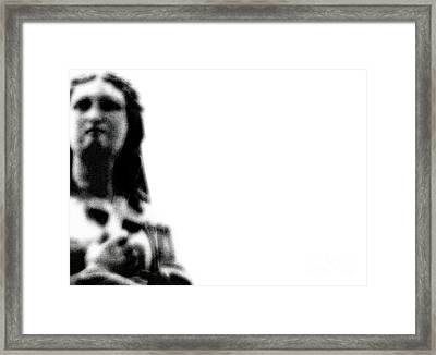 Take Up Your Cross Framed Print by Linda Shafer