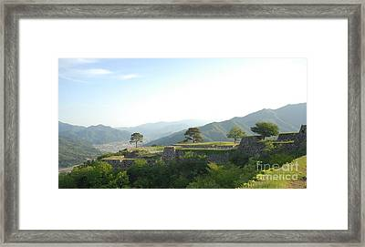 Takeda Castle By Taikan Framed Print by Taikan Nishimoto