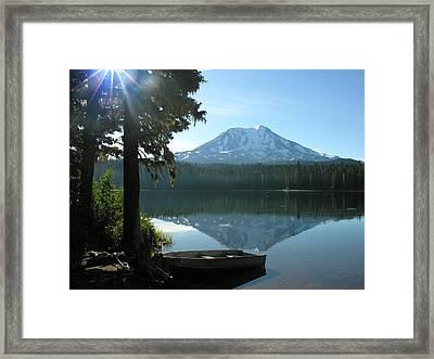 Takhlakh Lake Mt. Adams Framed Print by Mel Crist