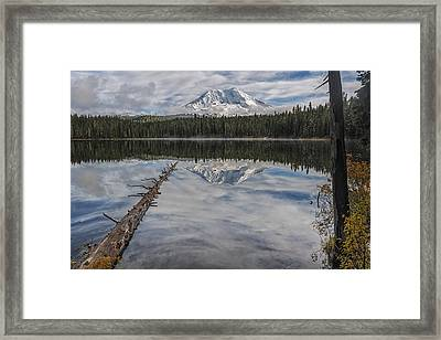 Takhlakh Lake With Mount Adams Framed Print