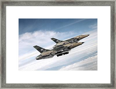Takhli Twoship Framed Print by Peter Chilelli