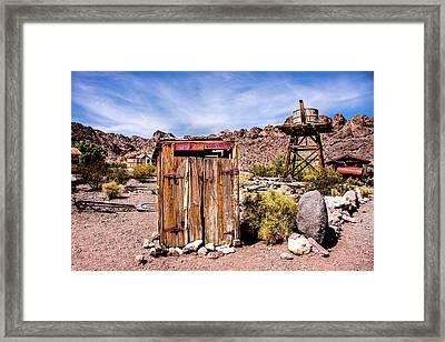 Takin A Break Framed Print by Onyonet  Photo Studios