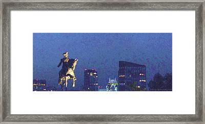 Takin' On Boston Framed Print