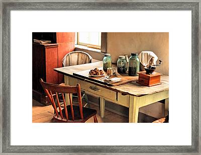 Taking A Break At Old World Wisconsin Framed Print