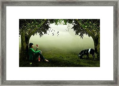 Taking A Break Framed Print by Ericamaxine Price
