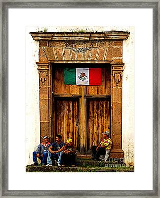 Taking A Break Framed Print by Mexicolors Art Photography