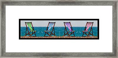 Taking A Dip Framed Print by Bruce Nutting