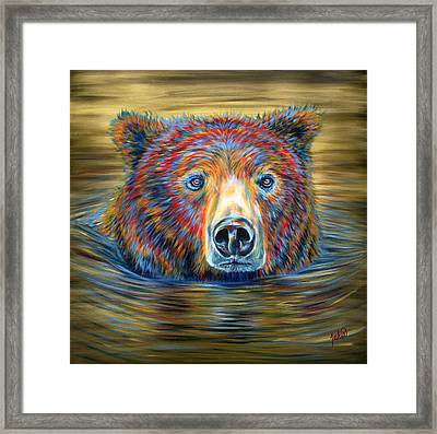 Taking A Dip Framed Print by Teshia Art