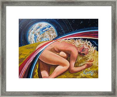Moonresting Goddess Odins Wife   Framed Print