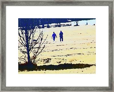Taking A Walk Framed Print by Lenore Senior
