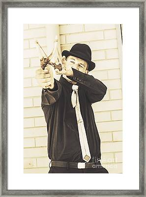 Taking Aim To Fire Framed Print by Jorgo Photography - Wall Art Gallery