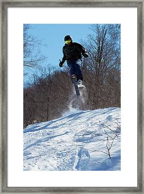 Framed Print featuring the photograph Taking Air On Mccauley Mountain by David Patterson