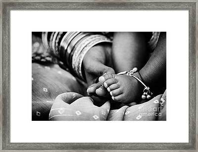 Taking Care Framed Print