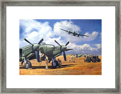 'taking Delivery - Mosquito' Framed Print