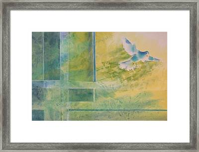 Taking Flight To The Light Framed Print