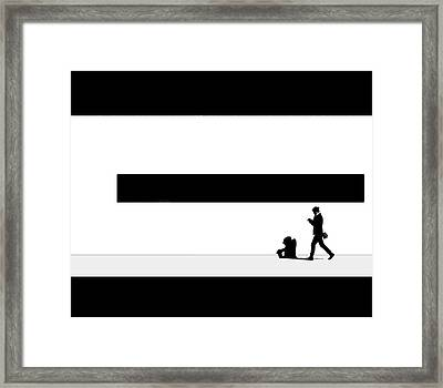 Taking Her Shadow For A Walk Framed Print