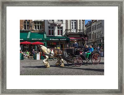 Taking In Brugge  Framed Print by Capt Gerry Hare